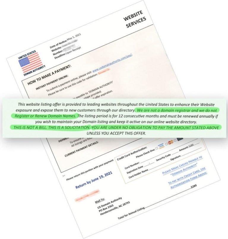 scam letter